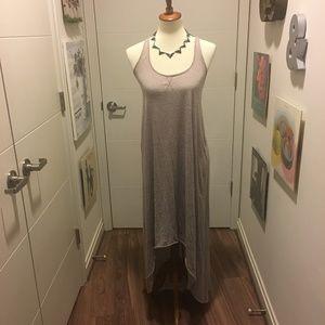 Free People T-back slub knit Hi-low dress NWOT